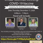 Virtual Townhal Meeting COVID-19 Vaccine Thusday, December 17th